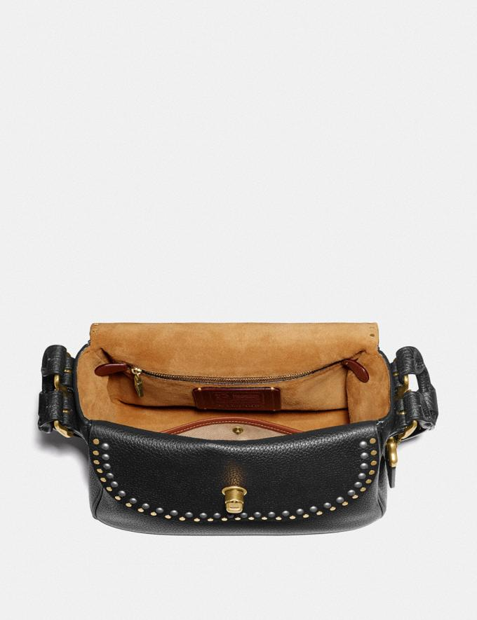 Coach Coach X Tabitha Simmons Crossbody With Rivets Black/Brass Cyber Monday Alternate View 2