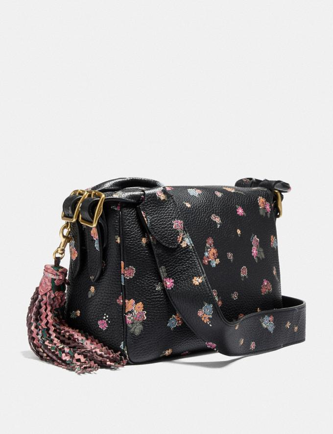 Coach Coach X Tabitha Simmons Crossbody With Meadow Rose Print Black/Brass Women Handbags Crossbody Bags Alternate View 1