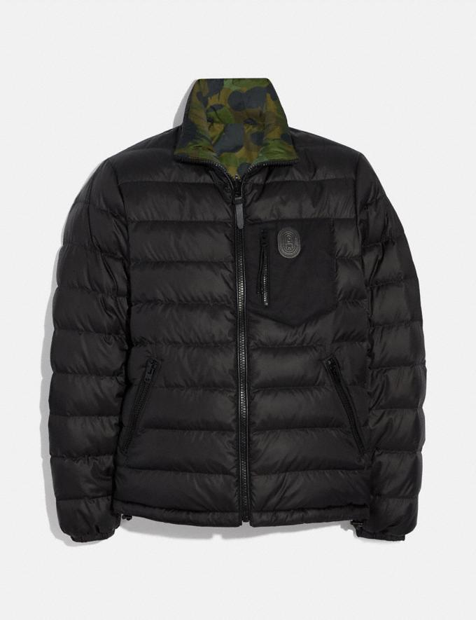 Coach Reversible Puffer Jacket Black/Wild Beast New Men's New Arrivals Ready-to-Wear