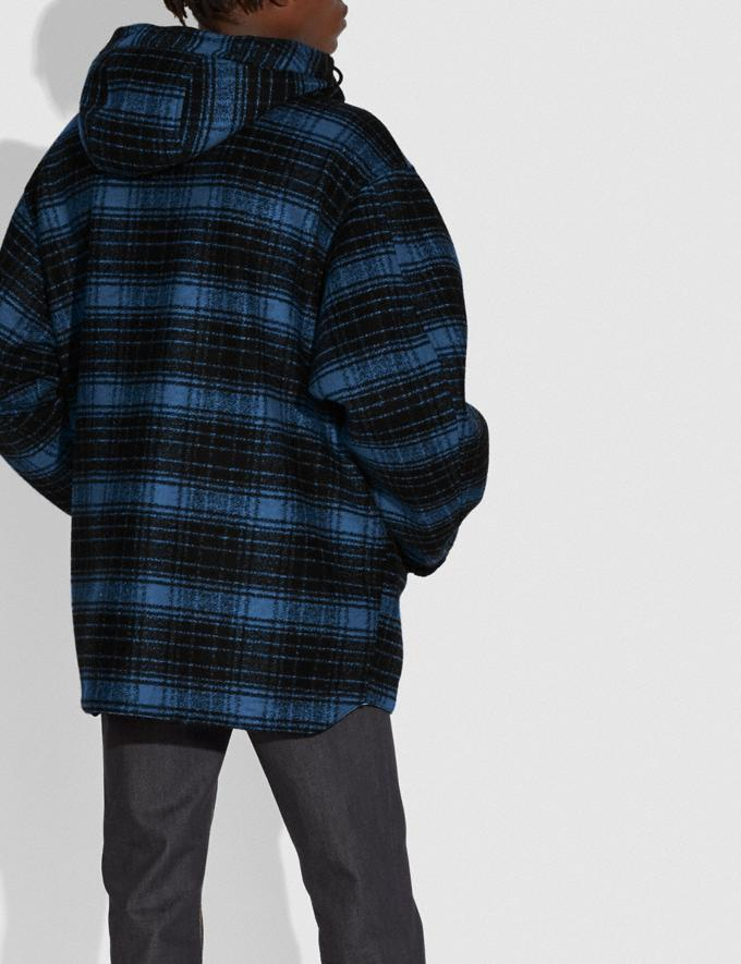 Coach Reversible Plaid Jacket Ink  Alternate View 1