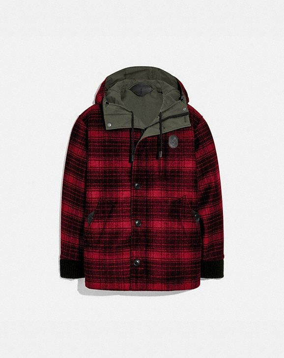 Coach REVERSIBLE PLAID JACKET