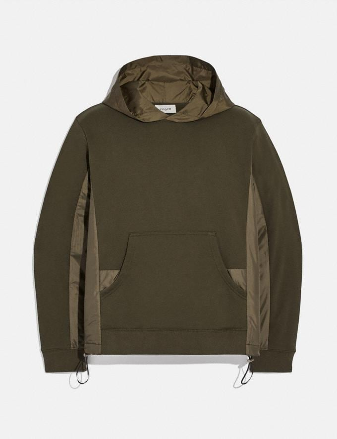 Coach Nylon Hoodie Olive SALE Men's Sale Ready-to-Wear