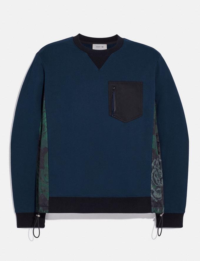 Coach Nylon Sweatshirt With Kaffe Fassett Print Navy/Wildbeast Men Ready-to-Wear Tops & Bottoms