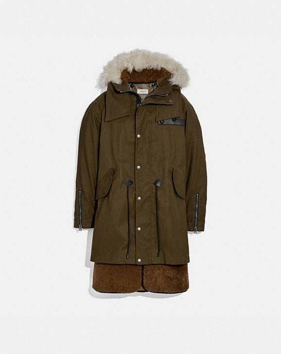 Coach SHEARLING CONVERTIBLE PARKA
