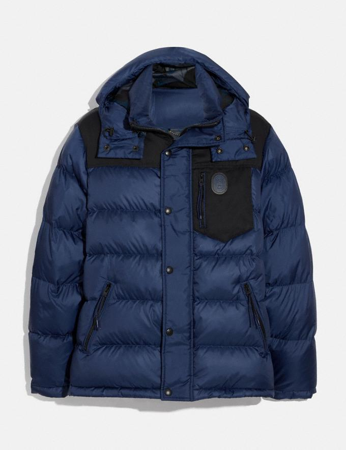 Coach Puffer Jacket Navy