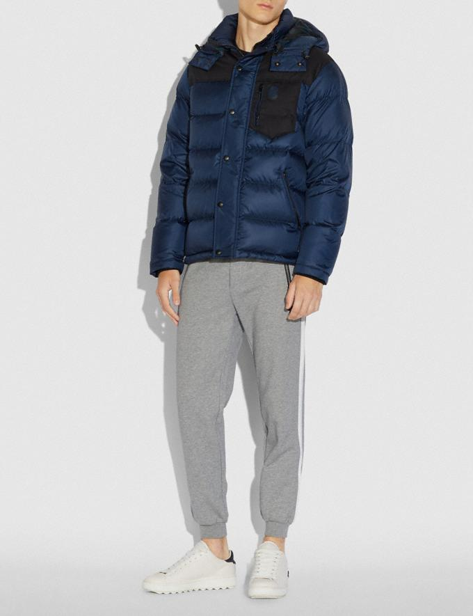 Coach Puffer Jacket Navy  Alternate View 1