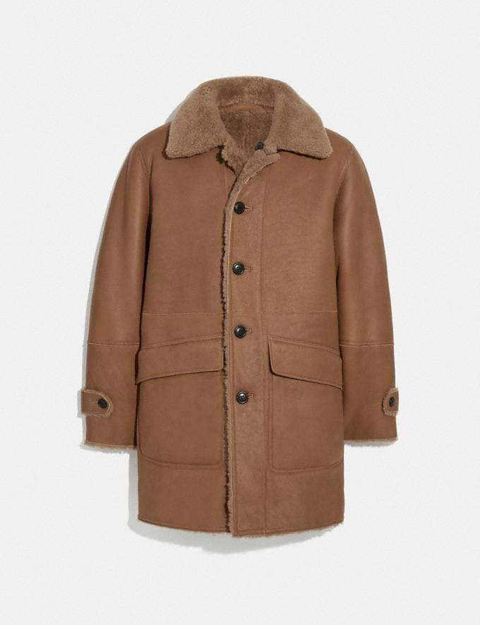 Coach Reversible Shearling Coat Biscuit Men Ready-to-Wear Coats & Jackets
