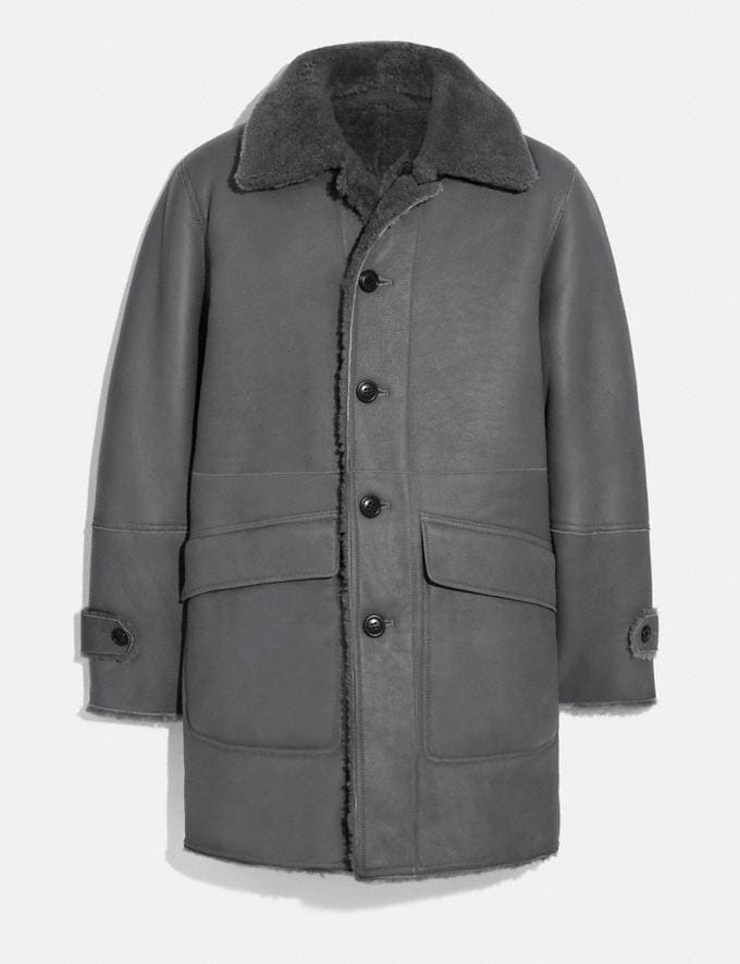 Coach Reversible Shearling Coat Biscuit