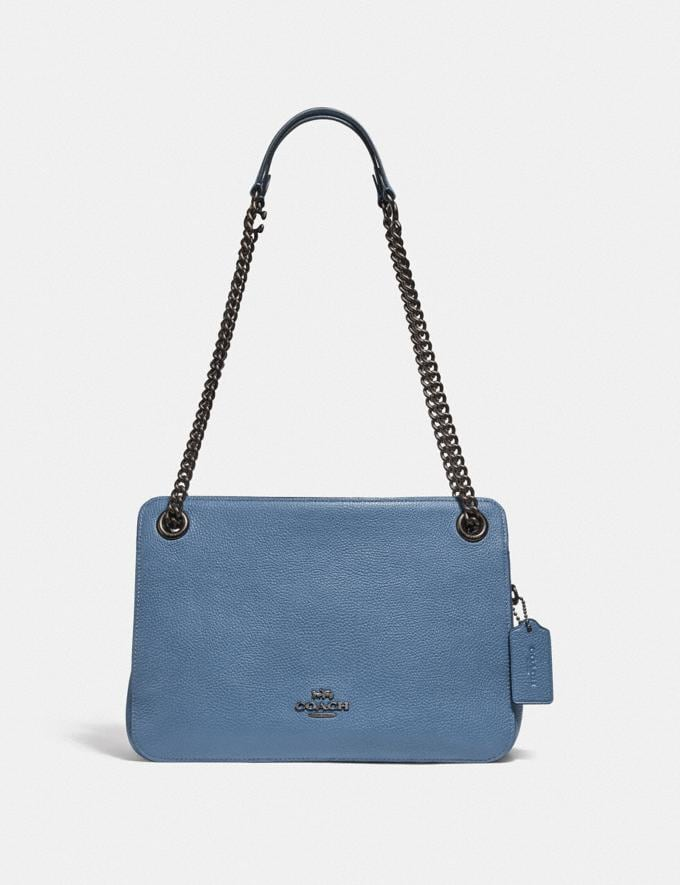 Coach Bryant Convertible Carryall Pewter/Stone Blue