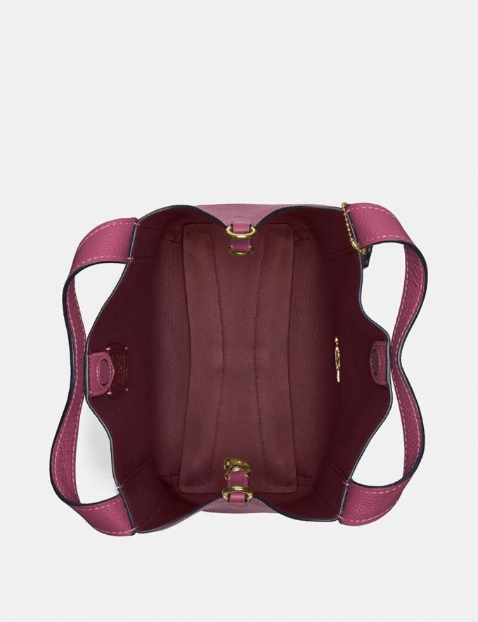 Coach Hadley Hobo 21 Gold/Dusty Pink Women Handbags Crossbody Bags Alternate View 3