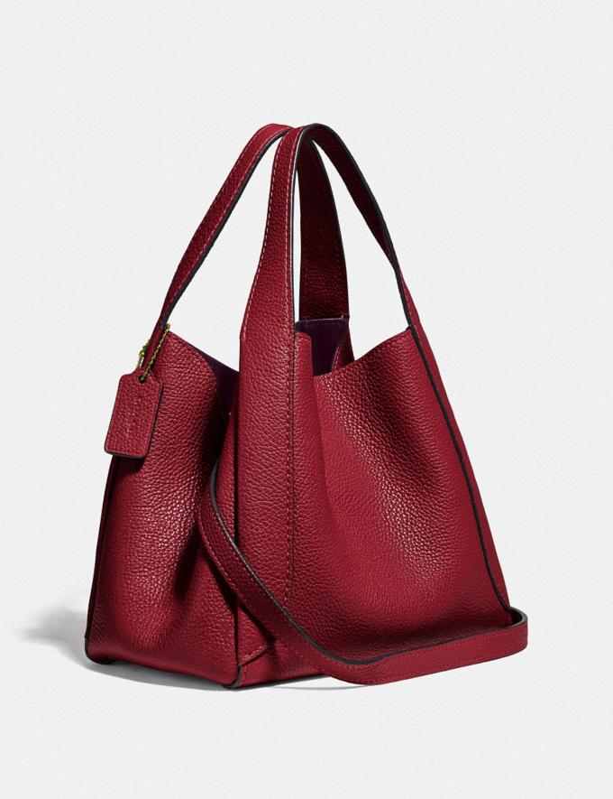 Coach Hadley Hobo 21 Gold/Deep Red New Featured Online-Only Alternate View 1