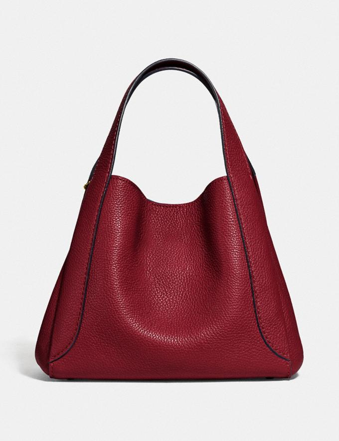 Coach Hadley Hobo 21 Gold/Deep Red New Featured Online-Only Alternate View 2