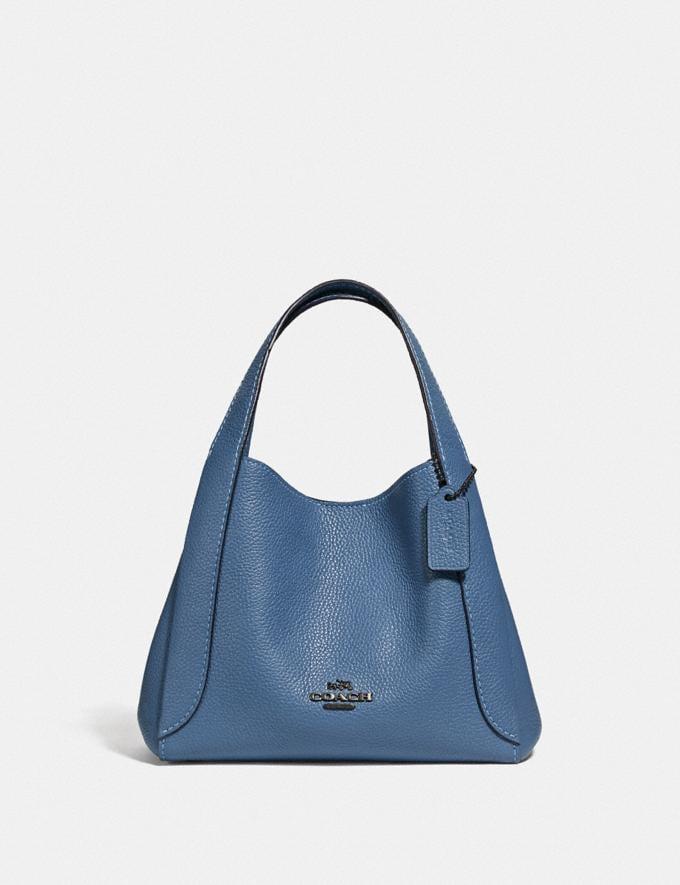 Coach Hadley Hobo 21 Gunmetal/Stone Blue Women Bags Shoulder Bags