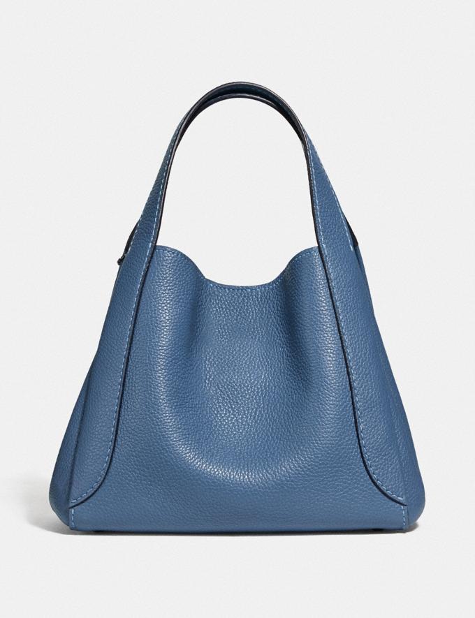 Coach Hadley Hobo 21 Gunmetal/Stone Blue Women Bags Shoulder Bags Alternate View 2