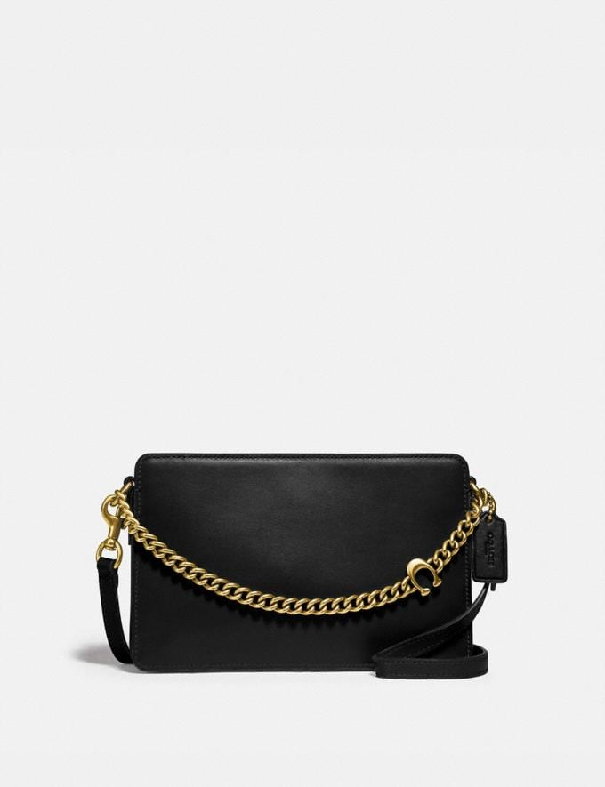 Coach Signature Chain Crossbody B4/Black Women Bags Crossbody Bags