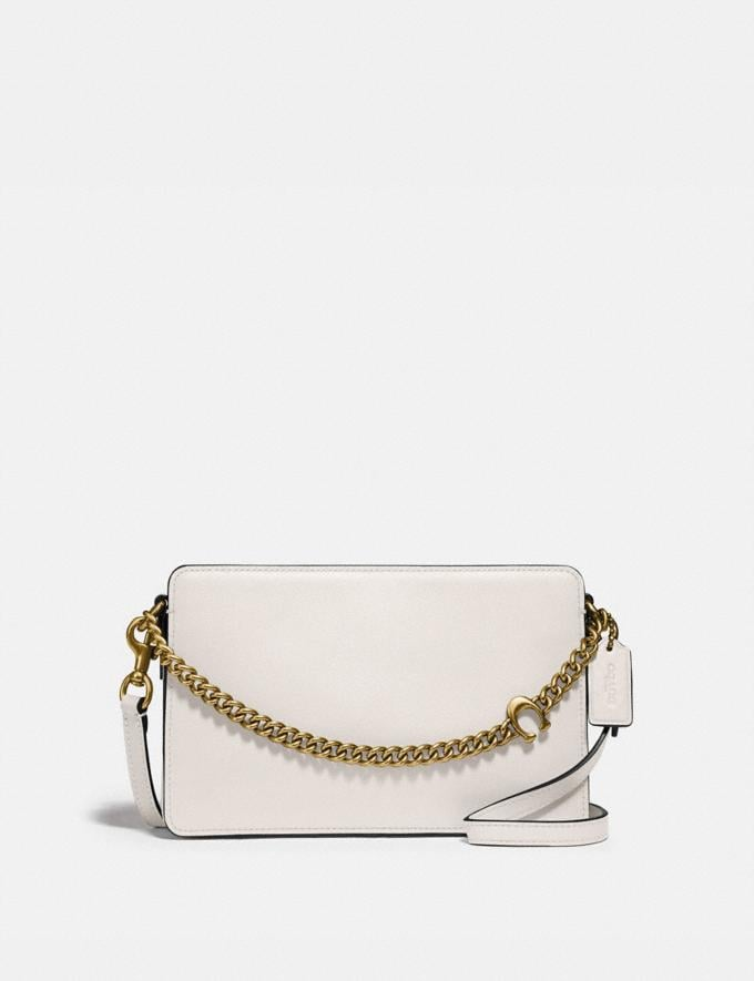 Coach Signature Chain Crossbody Brass/Chalk Women Bags Crossbody Bags