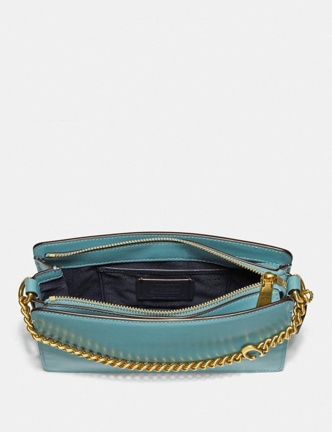 Coach Signature Chain Crossbody Brass/Marine New Women's New Arrivals Small Leather Goods Alternate View 3
