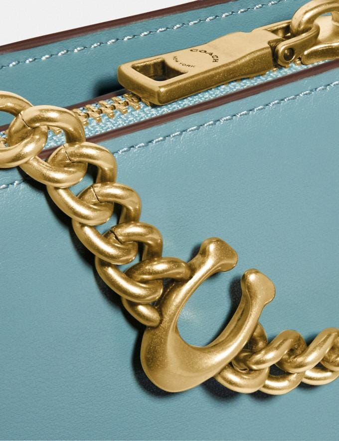 Coach Signature Chain Crossbody Brass/Marine New Women's New Arrivals Small Leather Goods Alternate View 5