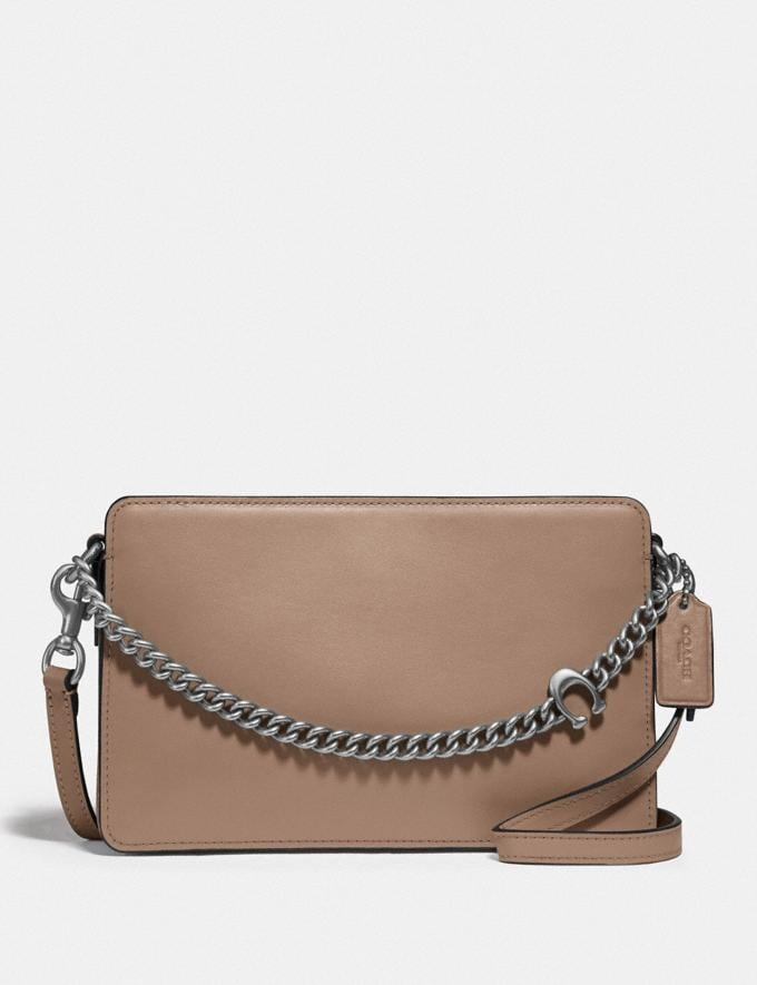 Coach Signature Chain Crossbody Lh/Taupe New Women's New Arrivals