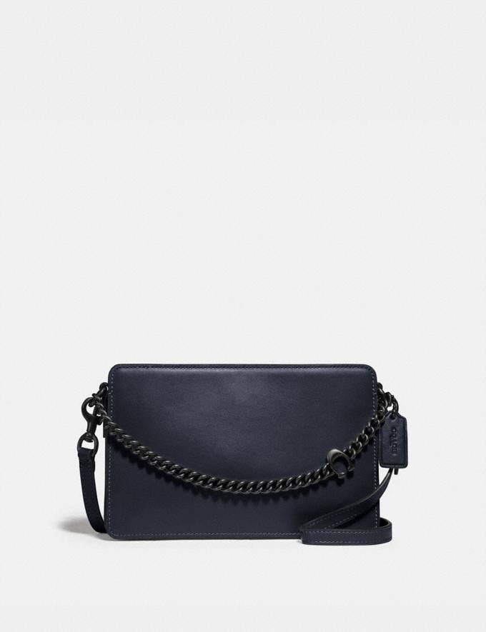 Coach Signature Chain Crossbody V5/Midnight Navy Women Bags Crossbody Bags