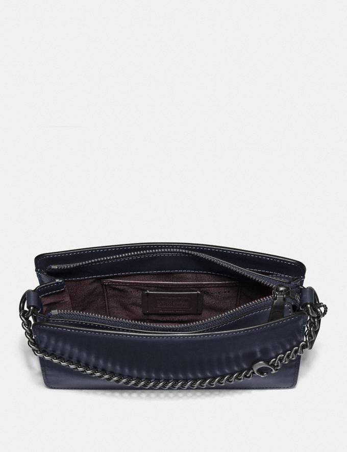 Coach Signature Chain Crossbody V5/Midnight Navy Women Bags Crossbody Bags Alternate View 2
