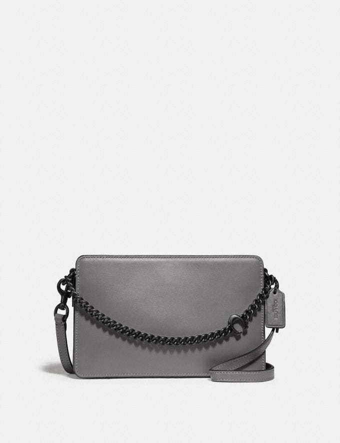 Coach Signature Chain Crossbody V5/Heather Grey New Women's New Arrivals Small Leather Goods