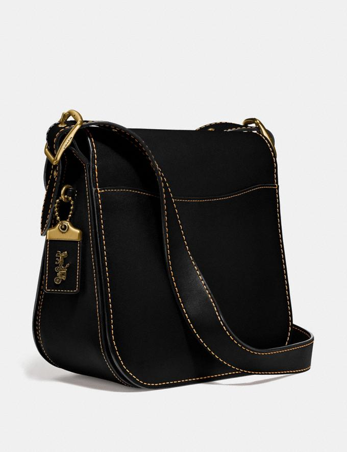 Coach Courier Bag Brass/Black Gifts For Her Under $500 Alternate View 1