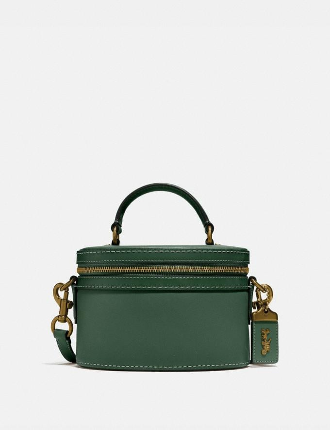 Coach Trail Bag Brass/Hunter Green Women Handbags Satchels & Top Handles
