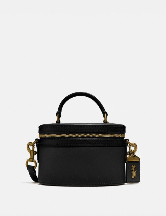 Coach Trail Bag Brass/Black Women Bags Mini Bags
