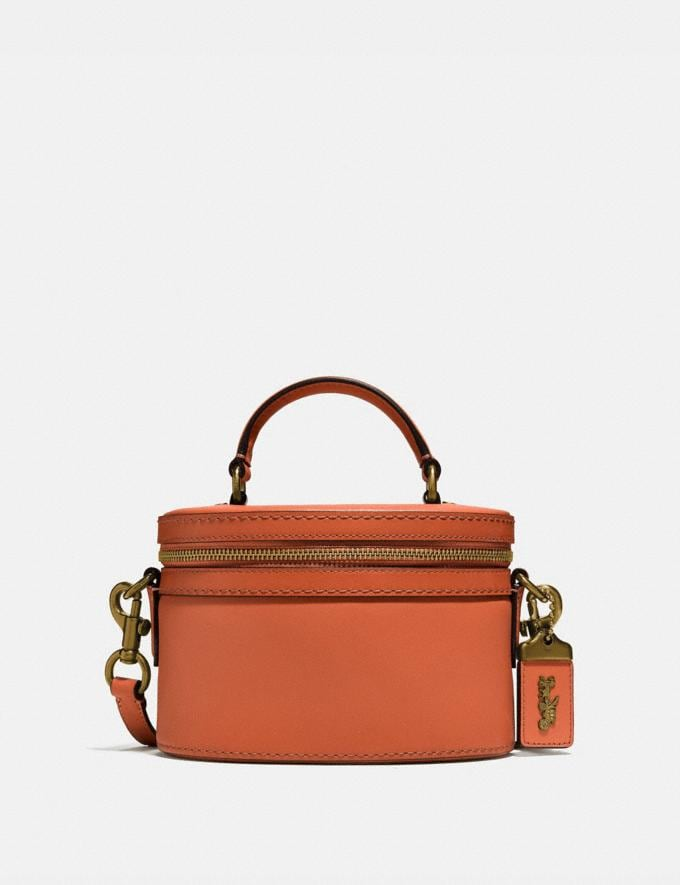 Coach Trail Bag Brass/Vermillion Gifts For Her Under $500