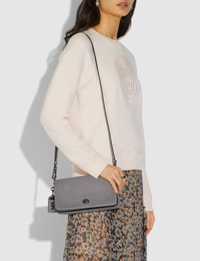 Coach Dinky Pewter/Heather Grey New Featured Women New Top Picks Alternate View 3