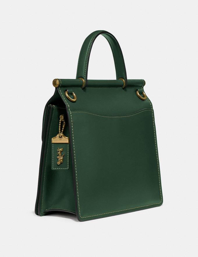Coach Willis Top Handle Brass/Hunter Green New Featured Online Exclusives Alternate View 1