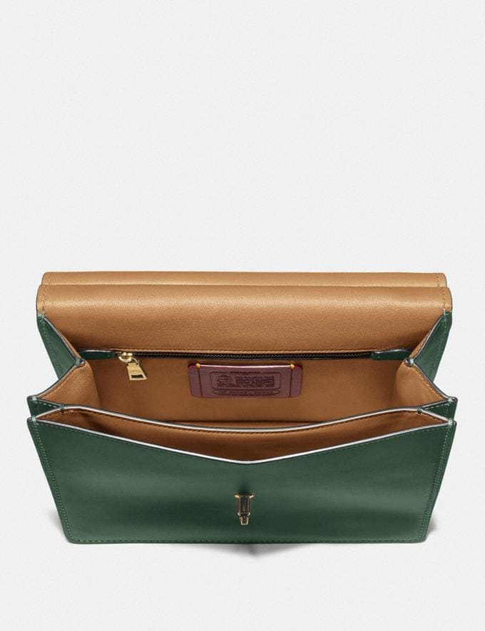Coach Willis Top Handle Brass/Hunter Green New Featured Online Exclusives Alternate View 2