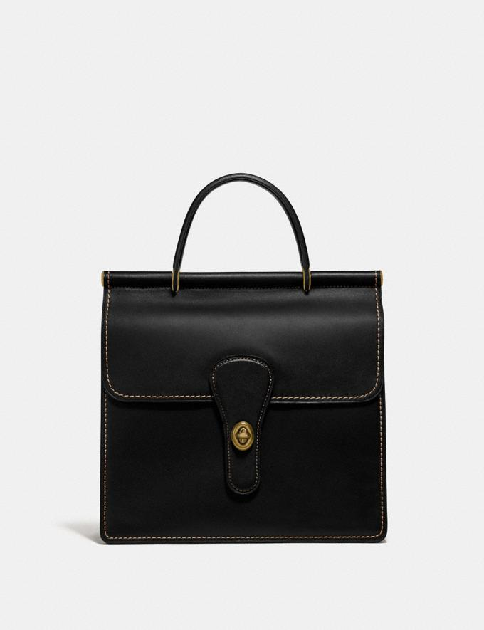 Coach Willis Top Handle Brass/Black New Women's New Arrivals Bags