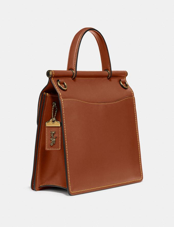 Coach Willis Top Handle Brass/1941 Saddle New Women's New Arrivals View All Alternate View 1