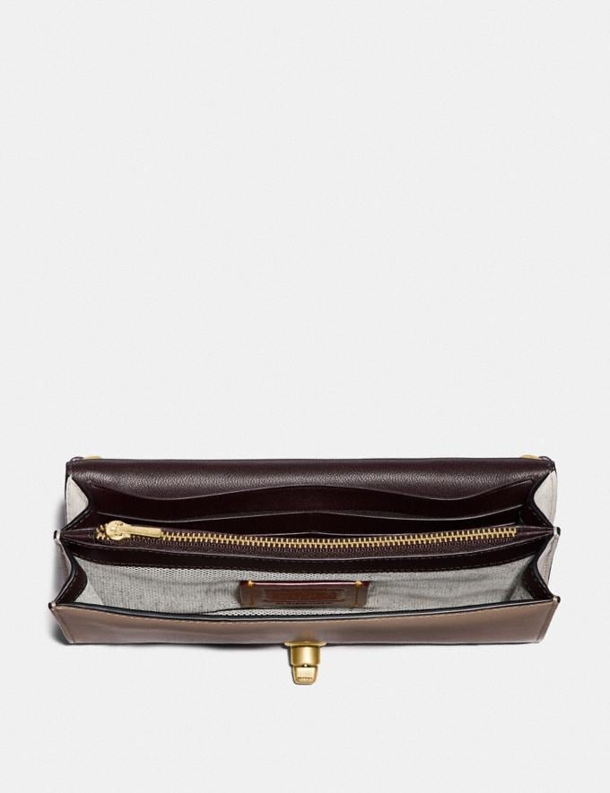 Coach Riley Chain Clutch in Colorblock Stone Multi/Brass Women Wallets & Wristlets Alternate View 2