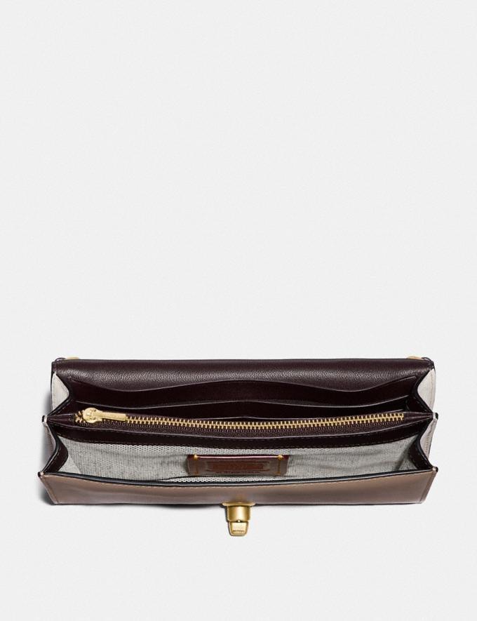 Coach Riley Chain Clutch in Colorblock Stone Multi/Brass Women Handbags Satchels & Top Handles Alternate View 2