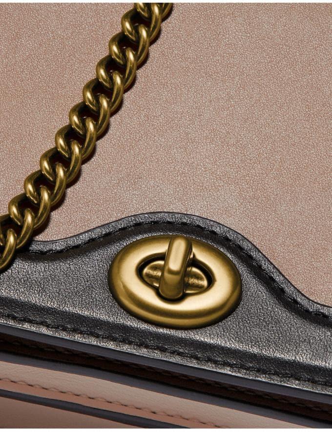 Coach Riley Chain Clutch in Colorblock Stone Multi/Brass Women Wallets & Wristlets Alternate View 4