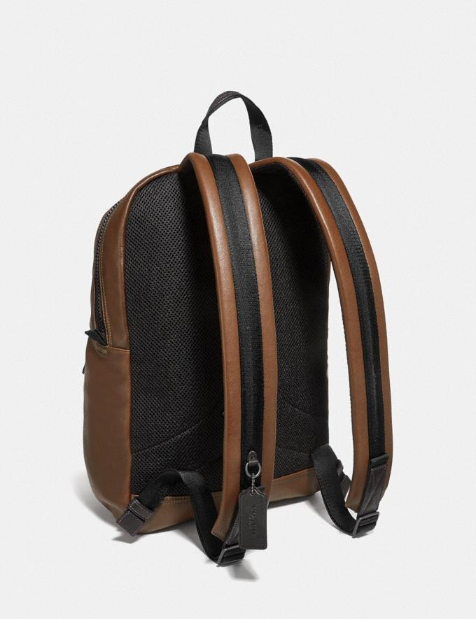 Coach Pacer Tall Backpack With Coach Patch Ji/Saddle New Men's New Arrivals Alternate View 1