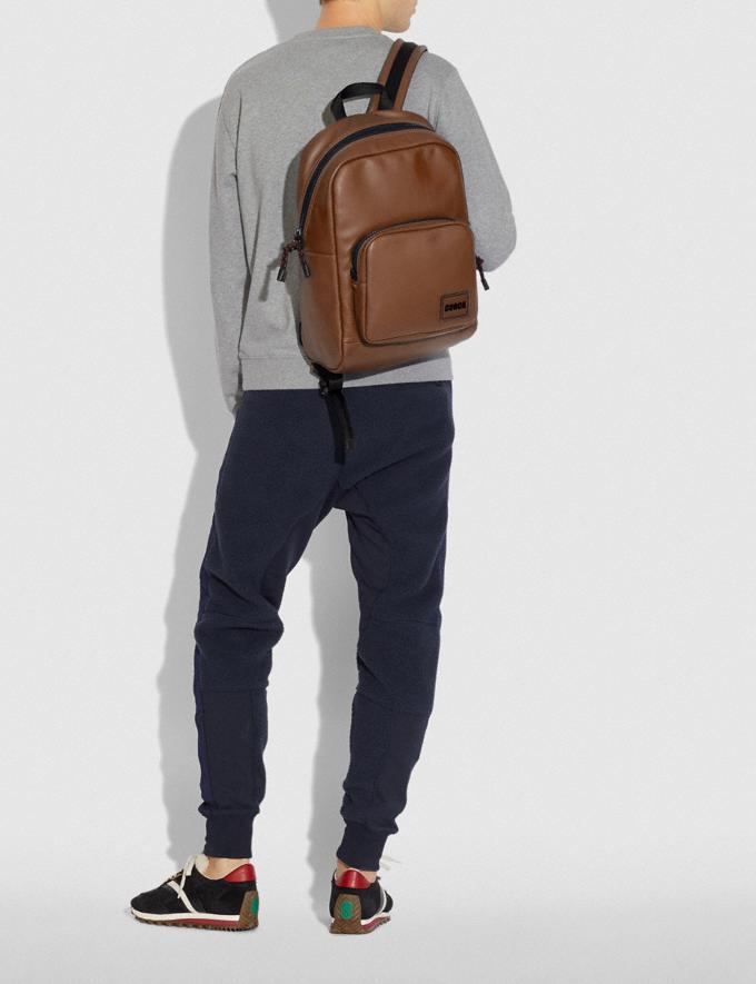 Coach Pacer Tall Backpack With Coach Patch Ji/Saddle New Men's New Arrivals Alternate View 3