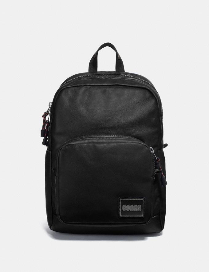 Coach Pacer Tall Backpack With Coach Patch Black Copper/Black Cyber Monday Men's Cyber Monday Sale Bags