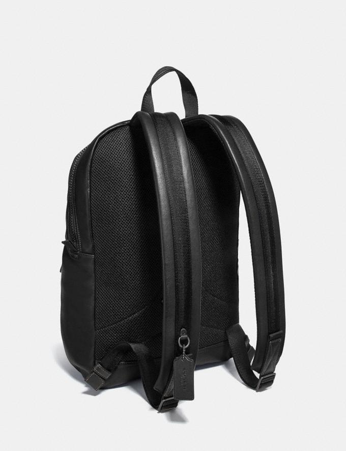 Coach Pacer Tall Backpack With Coach Patch Black Copper/Black New Men's New Arrivals Bags Alternate View 1