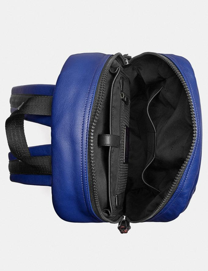Coach Pacer Tall Backpack With Coach Patch Black Copper/Sport Blue  Alternate View 2