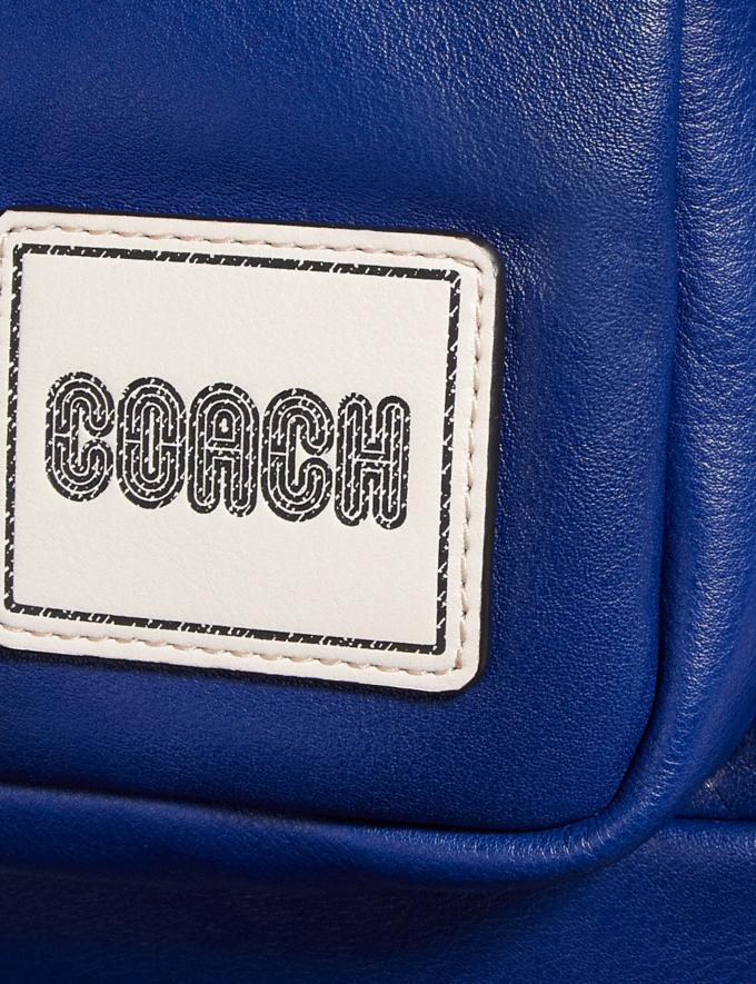 Coach Pacer Tall Backpack With Coach Patch Black Copper/Sport Blue  Alternate View 4