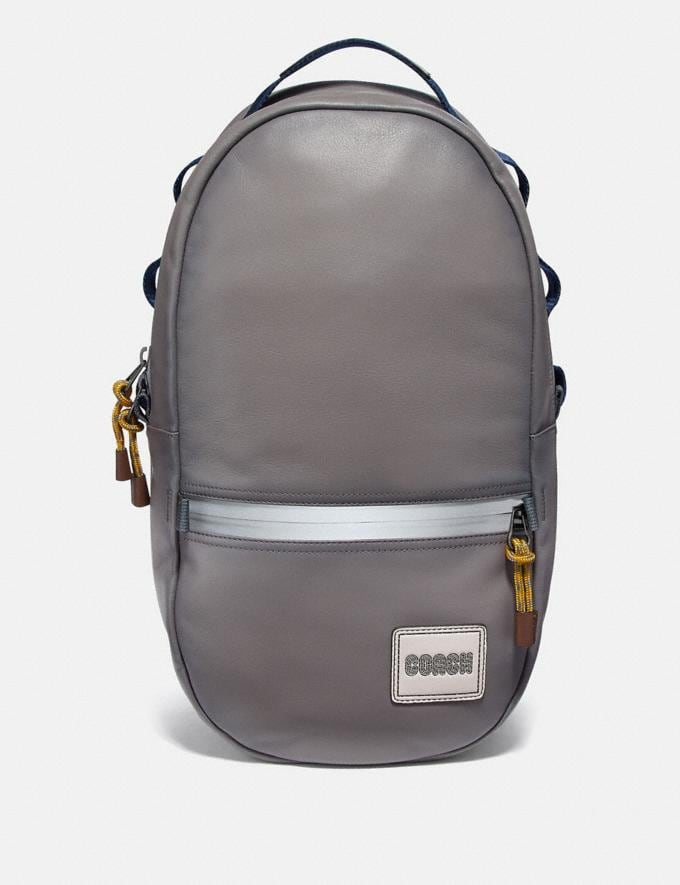 Coach Pacer Backpack With Coach Patch Black Copper/Heather Grey