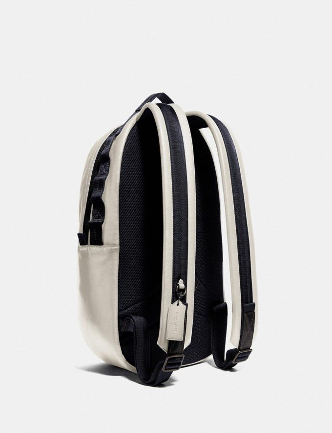 Coach Pacer Backpack With Coach Patch Black Copper/Chalk Men Edits Travel Alternate View 2
