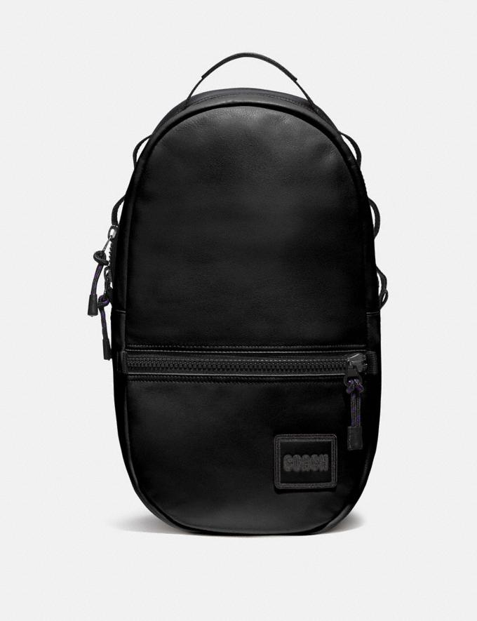 Coach Pacer Backpack With Coach Patch Black Copper/Cardinal Men Bags