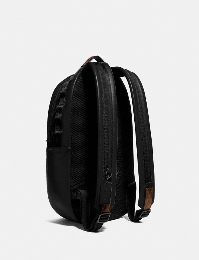 Coach Pacer Backpack With Coach Patch Black Copper/Black New Men's New Arrivals Bags Alternate View 1