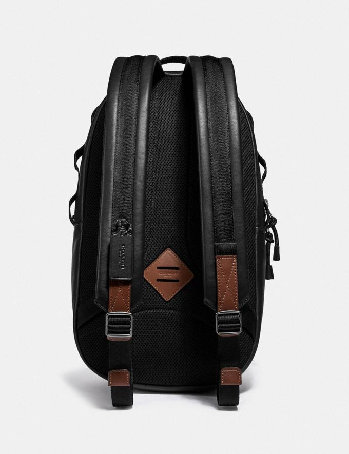 Coach Pacer Backpack With Coach Patch Black Copper/Black Men Bags Backpacks Alternate View 2