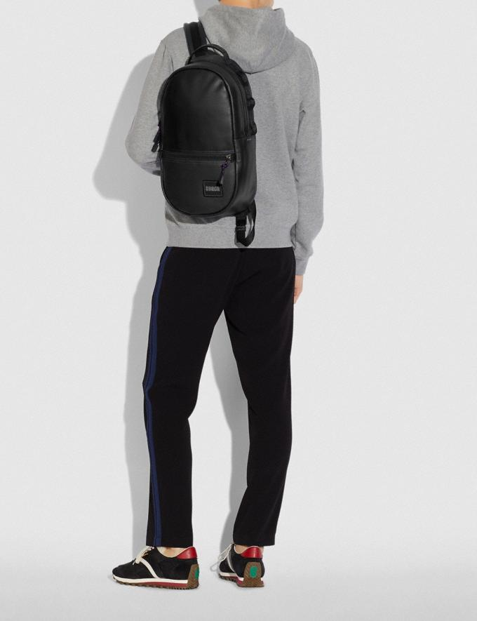 Coach Pacer Backpack With Coach Patch Black Copper/Black SALE 30% off Select Full-Price Styles Men's Alternate View 4